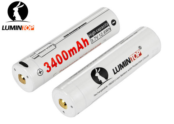 Chine Batterie rechargeable de Lumintop Lm34c, batterie rechargeable du lithium 3400mAh 18650 fournisseur